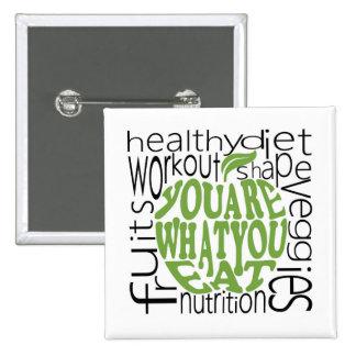 Fitness motivational design 15 cm square badge