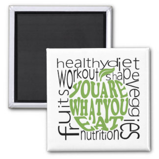 Fitness motivational poster square magnet