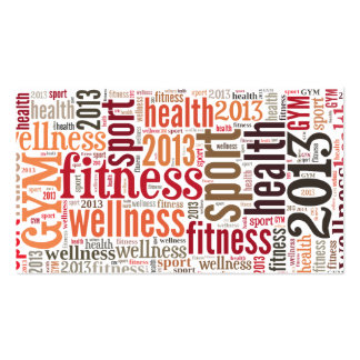Fitness Pack Of Standard Business Cards
