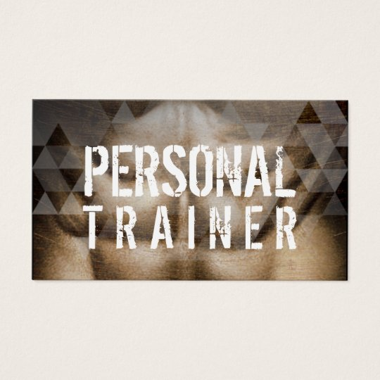 Fitness Personal Trainer Bold Geometric Business Card