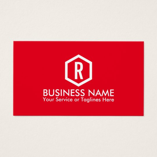 Fitness Personal Trainer Bold Monogram Modern Red Business