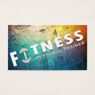 Fitness Personal Trainer Bold Text Dumbbell Logo