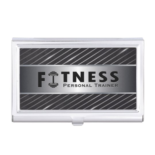 Fitness Personal Trainer Bold Text Dumbbell Logo Business