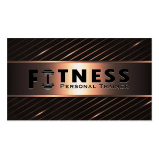Fitness Personal Trainer Bold Text Dumbbell Logo Pack Of Standard Business Cards