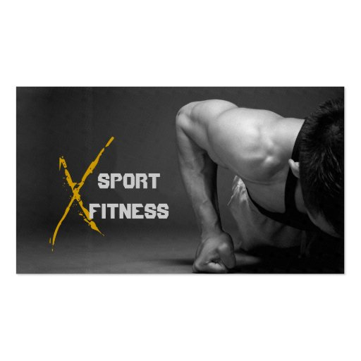 Fitness,  Personal Trainer, Business Card