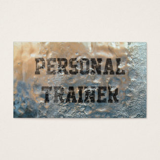 Fitness Personal Trainer Cool Forsted Business Card