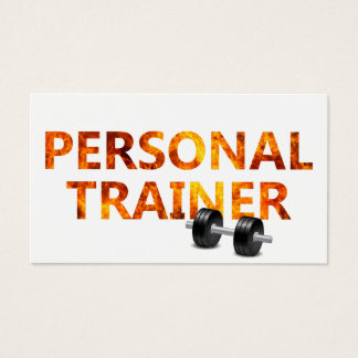 Fitness Personal Trainer Fire Bold Bodybuilding Business Card