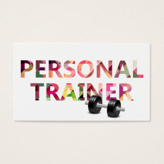 Fitness Personal Trainer Geometric Mosaic Text