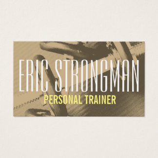Fitness personal trainer gym style cover business card