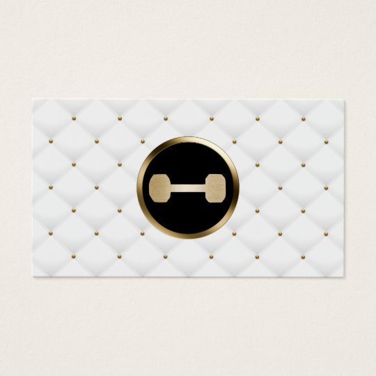 Fitness Personal Trainer Modern Gold & White Quilt