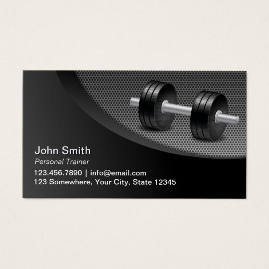 Fitness Personal Trainer Professinal Metallic Business Card