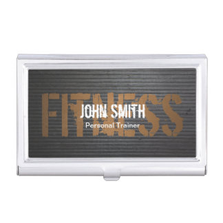 Fitness Professional Grunge Metal Personal Trainer Case For Business Cards