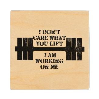Fitness Self Motivation Wood Coaster