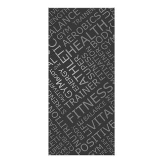 Fitness Studio Price List Rack Card