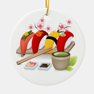 Fitness - Sushi! by SRF Christmas Ornament