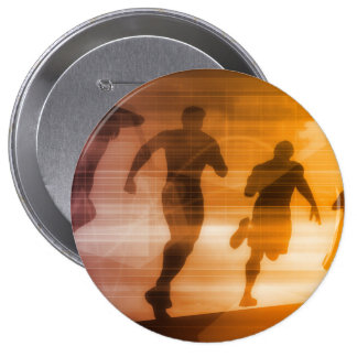 Fitness Technology and Sports Monitoring Data 10 Cm Round Badge