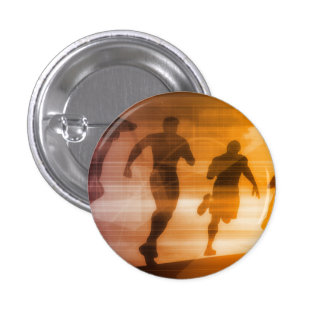 Fitness Technology and Sports Monitoring Data 3 Cm Round Badge
