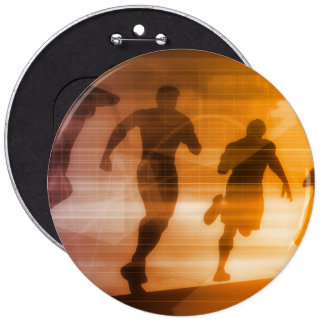 Fitness Technology and Sports Monitoring Data 6 Cm Round Badge