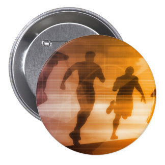 Fitness Technology and Sports Monitoring Data 7.5 Cm Round Badge