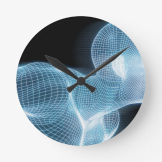 Fitness Technology Science Lifestyle as a Concept Wall Clock