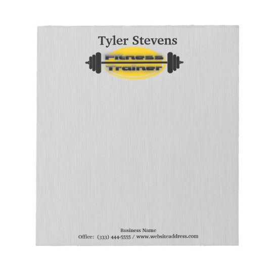 Fitness Trainer Barbell Notepad