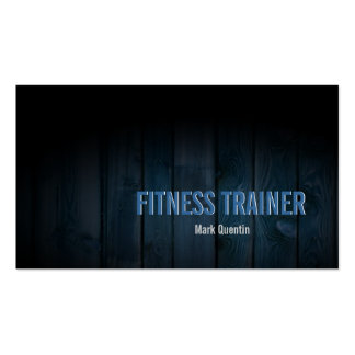 Fitness Trainer Business Card Dark Wood