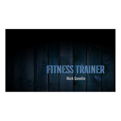 Fitness Trainer Business Card Dark Wood