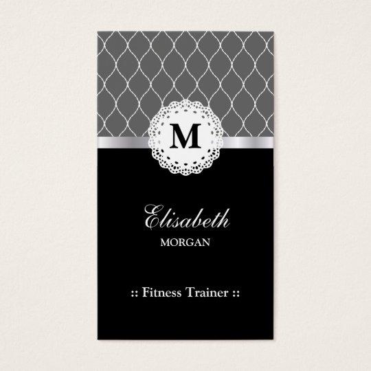 Fitness Trainer - Elegant Black Lace Pattern Business