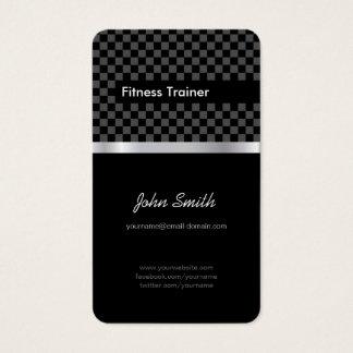 Fitness Trainer - Elegant Black Silver Squares