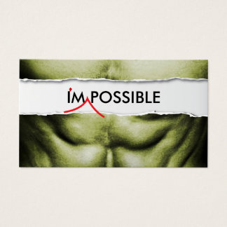 Fitness Trainer I'm Possible Professional Business Card