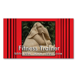 Fitness trainer magnetic business cards