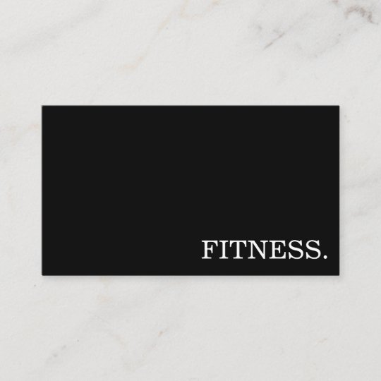 Fitness Trainer Minimal Business Card