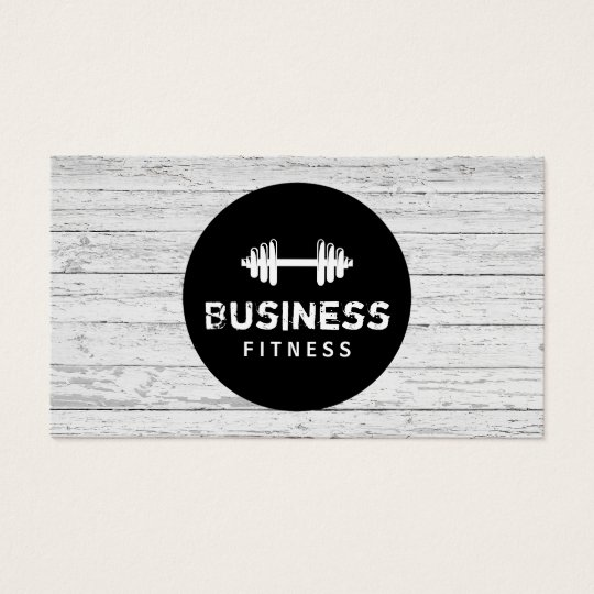 Fitness Trainer Modern Black Circle Wood Gym Business