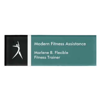 Fitness Trainer Modern Name ID Tag Name Tag