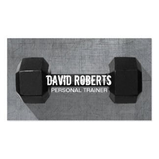 Fitness Trainer Professional Dumbbell Cool Metal Pack Of Standard Business Cards