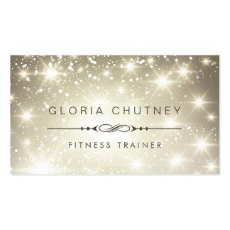 Fitness Trainer - Sparkling Bokeh Glitter Pack Of Standard Business Cards