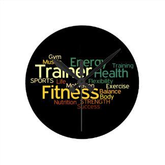 Fitness & Trainer Wall Clock