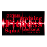 Fitness Training Cool Red Professional Pack Of Standard Business Cards