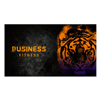 Fitness Training Cool Tiger Professional Pack Of Standard Business Cards
