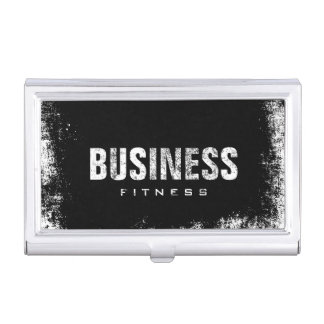 Fitness Training Professional Dark Grunge Business Card Holder