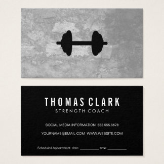 Fitness Weight Gray Texture Appointment Business Card