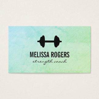 Fitness Weight Green Grunge Texture Business Card