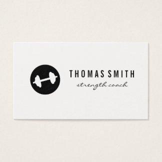 Fitness Weight Minimalist Business Card