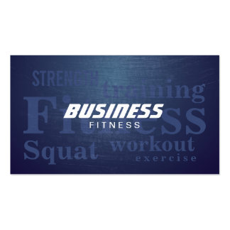 Fitness Words Cool Blue Metal Personal Trainer Pack Of Standard Business Cards