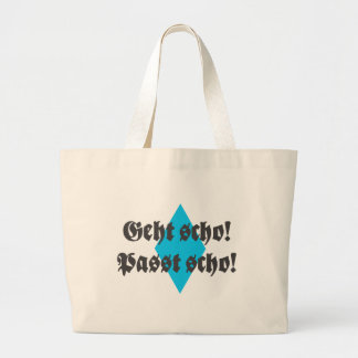 Fits scho, goes scho tote bag