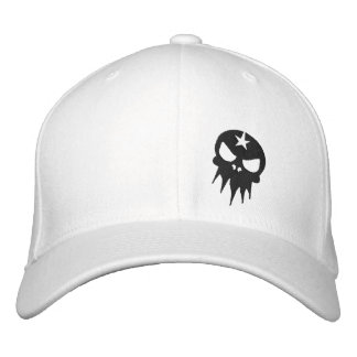 Fitted Embroidered Skull Hat Embroidered Baseball Cap