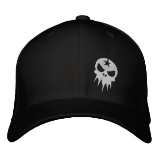 Fitted Embroidered Skull Hat Embroidered Cap