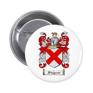 FITZGERALD FAMILY CREST -  FITZGERALD COAT OF ARMS 6 CM ROUND BADGE