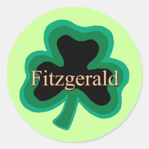 Fitzgerald Family Round Sticker
