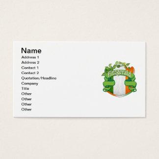 Fitzgerald Irish Shield Business Card